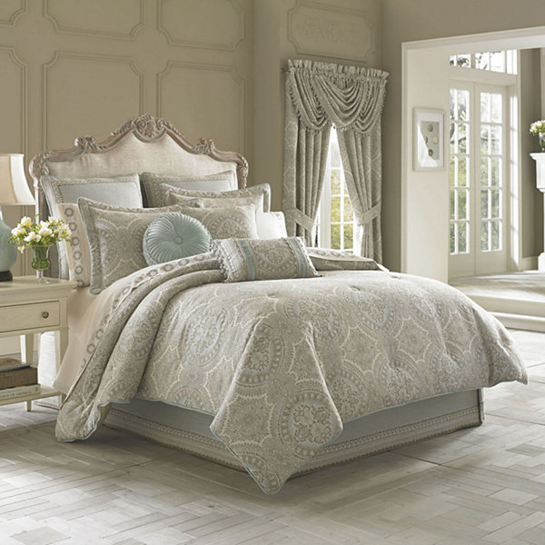 Queen Street Carlina 4-pc. Jacquard Comforter Set