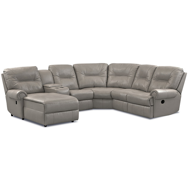 Brinkley 5-pc. Leather Reclining Chaise Motion Sectional