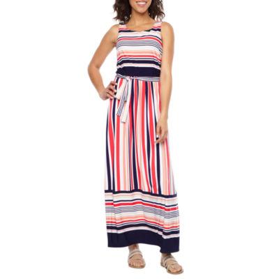 Studio 1 Sleeveless Stripe Maxi Dress