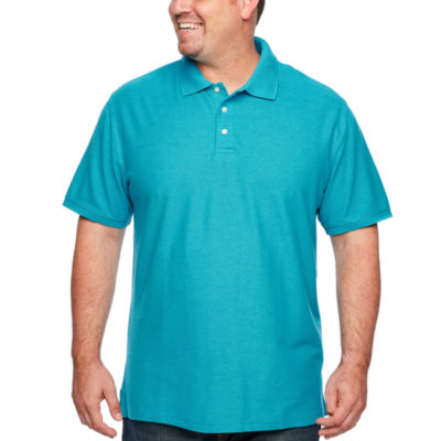 The Foundry Big & Tall Supply Co. Easy Care Short Sleeve Pique Polo Shirt Big and Tall