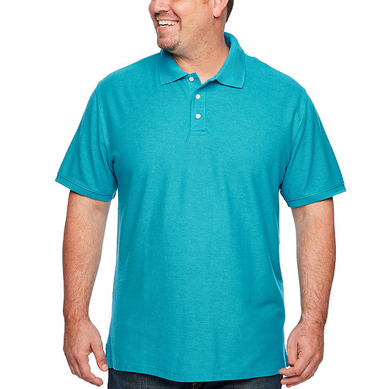 5fcd6f06ecb0 The Foundry Big & Tall Supply Co. Mens Y Neck Short Sleeve Polo Shirt Big  and Tall - JCPenney