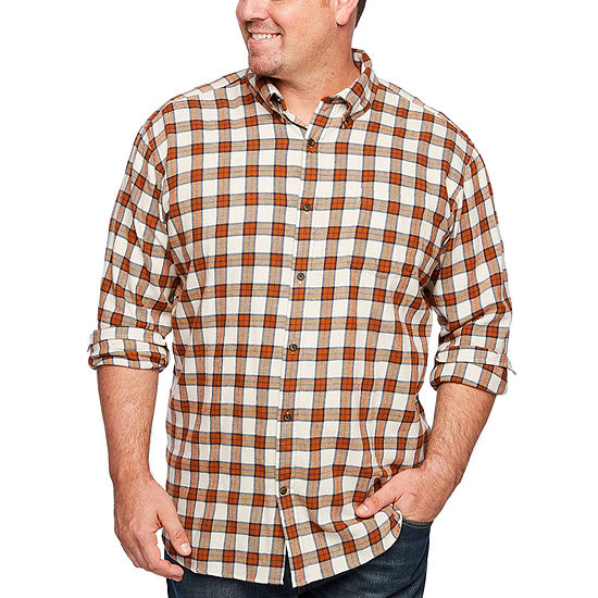 e8ad34081f4b The Foundry Big & Tall Supply Co. Mens Long Sleeve Flannel Shirt Big and  Tall - JCPenney