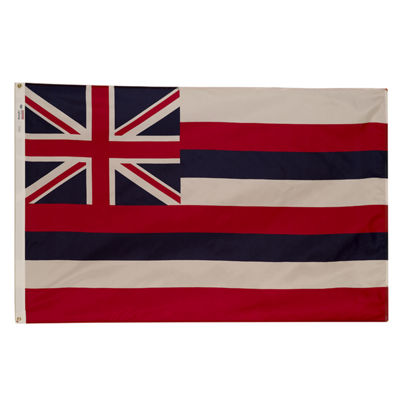 Valley Forge HI3 3' X 5' Spectramax Nylon Hawaii Flag