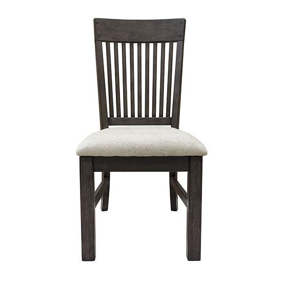 Farmhouse Style Slat Back Side Chair