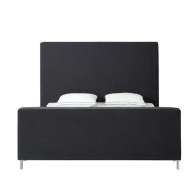 Inspired Home Stefania Linen Upholstered Platform Bed