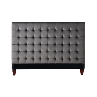 Inspired Home Telford Velvet Button Tufted Headboard