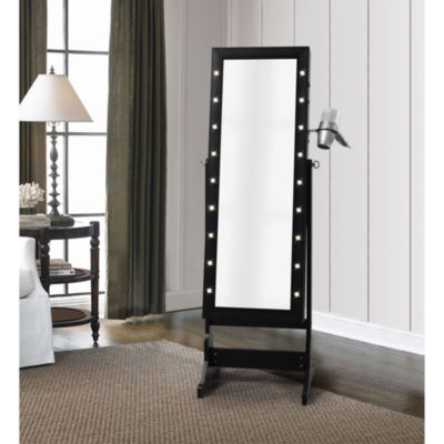 Inspired Home Amelie Marquee Lights Armoire Jewelry Storage