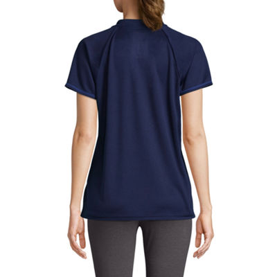 St. John's Bay Active Short Sleeve Crew Neck T-Shirt-Womens