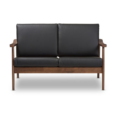 Baxton Studio Venza Faux Leather Loveseat