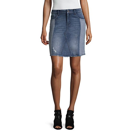 Libby Edelman Two-Tone Denim Skirt