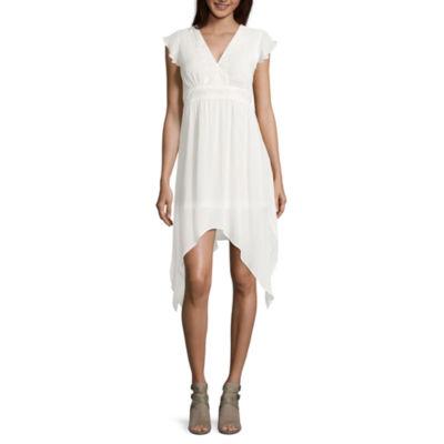 Libby Edelman V-Neck Fit & Flare Dress