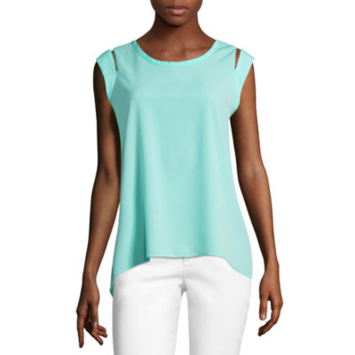 Project Runway Cap Sleeve Cut Out Blouse
