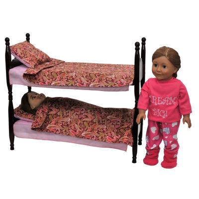 The Queen's Treasures Wood Bunk Beds & Bedding; For 18 Inch Dolls
