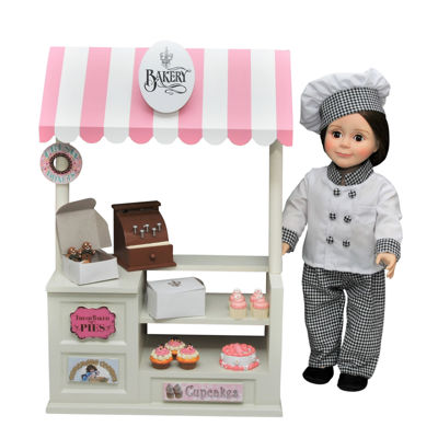 The Queen's Treasures Complete 18 Inch Doll Bake Shop &Accessories