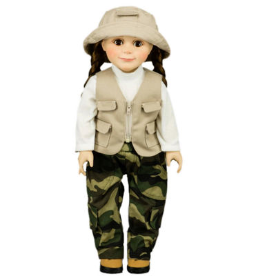 The Queen's Treasures 3-pc. Fishing Outfit; 18 Inch Doll Clothes