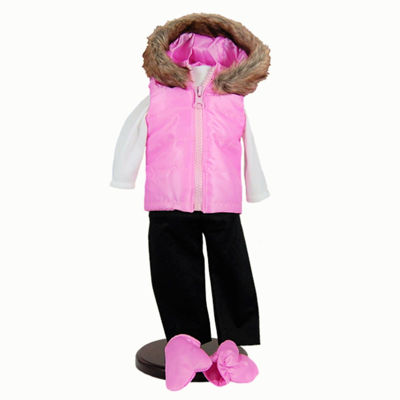 The Queen's Treasures Pink Winter Fun 18 Inch Doll Clothes Outfit