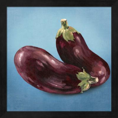 Metaverse Art Eggplant Framed Wall Art