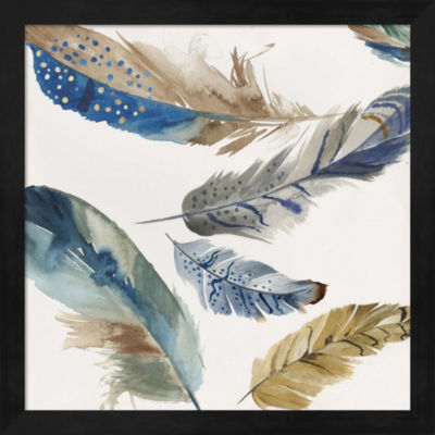 Metaverse Art Feather Weather I Framed Wall Art