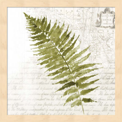 Metaverse Art Fern II Framed Wall Art