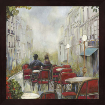 Metaverse Art Paris Cafe Framed Wall Art