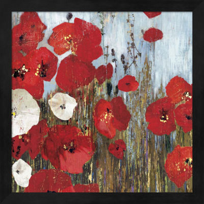 Metaverse Art Passion Poppies I Framed Wall Art