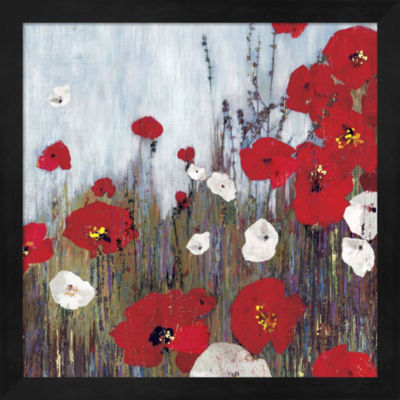 Metaverse Art Passion Poppies II Framed Wall Art
