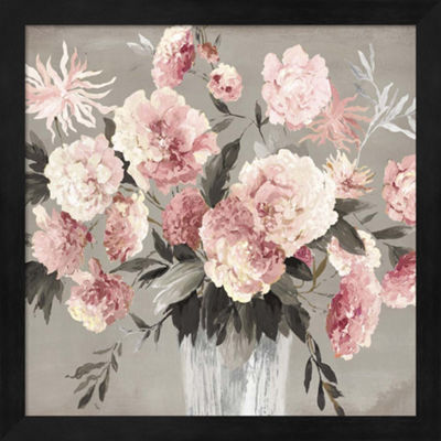 Metaverse Art Peach Bouquet Framed Wall Art