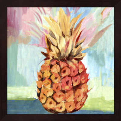 Metaverse Art Pineapple Framed Wall Art
