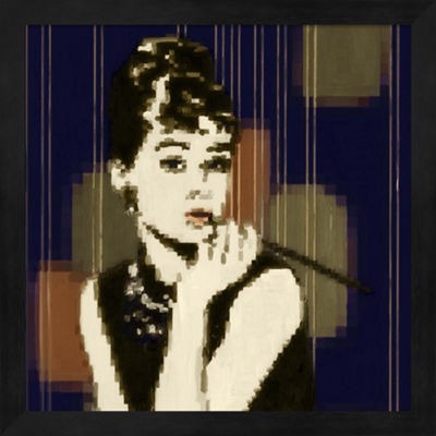 Metaverse Art Pixeled Hepburn Framed Wall Art