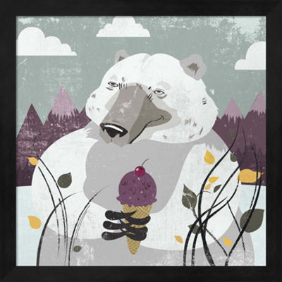Metaverse Art Polar Bear Framed Wall Art
