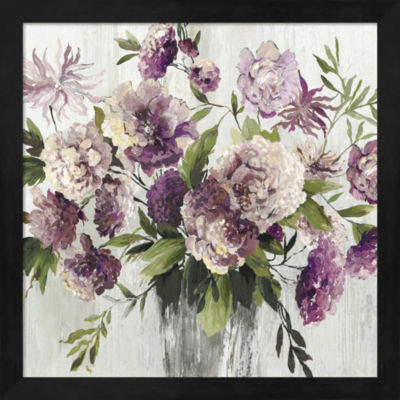 Metaverse Art Purple Bouquet Framed Wall Art