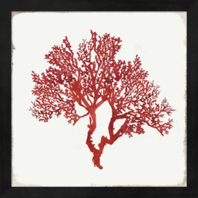 Metaverse Art Red Coral II Framed Wall Art