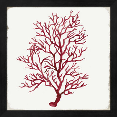 Metaverse Art Red Coral III Framed Wall Art