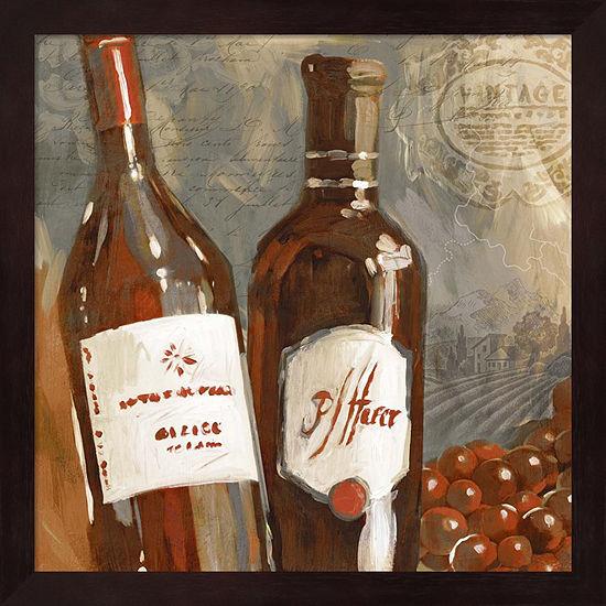 Metaverse Art Red Wine I Framed Wall Art