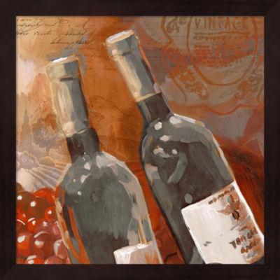 Metaverse Art Red Wine II Framed Wall Art