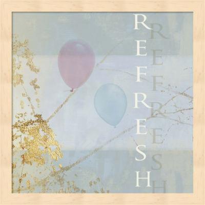 Metaverse Art Refresh Balloons Framed Wall Art