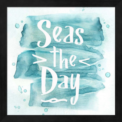 Metaverse Art Seas the Day Framed Wall Art
