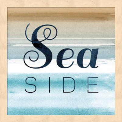 Metaverse Art Seaside Framed Wall Art