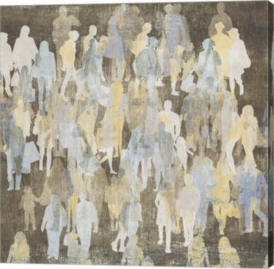 Metaverse Art Silhouettes I Canvas Art