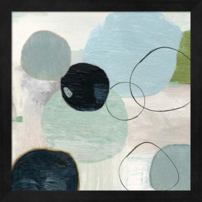 Metaverse Art Soft Circle I Framed Wall Art