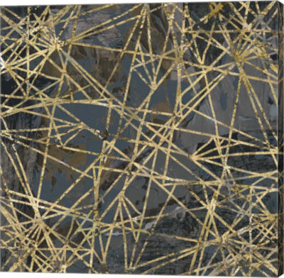 Metaverse Art Geometric Gold III Canvas Art