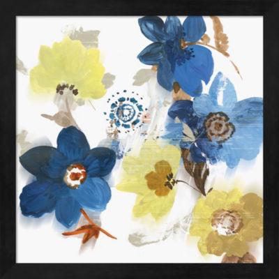 Metaverse Art Glitchy Floral II Framed Wall Art