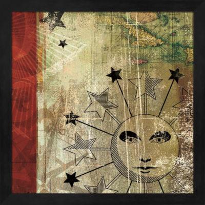 Metaverse Art Sun And Moon II Framed Wall Art