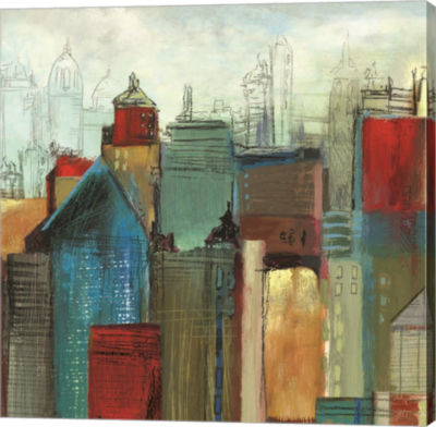Metaverse Art Sunlight City I Canvas Art