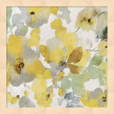 Metaverse Art Sunny Floral II Framed Wall Art