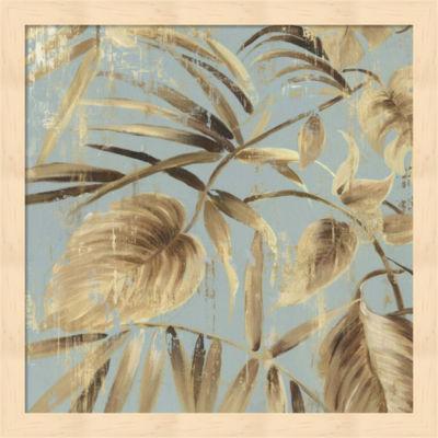 Metaverse Art Gold Palms II Framed Wall Art