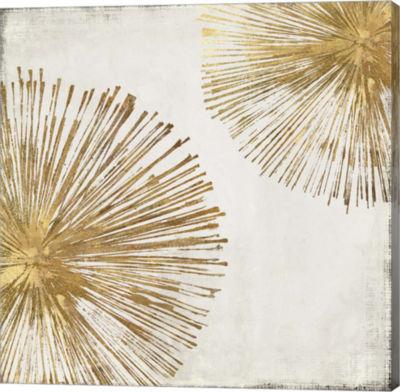 Metaverse Art Gold Star I Canvas Art