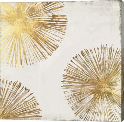 Metaverse Art Gold Star II Canvas Art