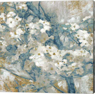 Metaverse Art Golden Dogwood I Canvas Art