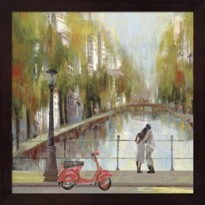 Metaverse Art A Stroll to Remember Framed Wall Art